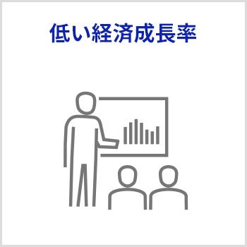 低い経済成長率